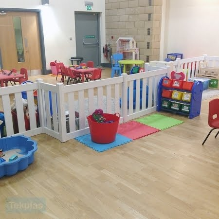indoor plastic play area fencing