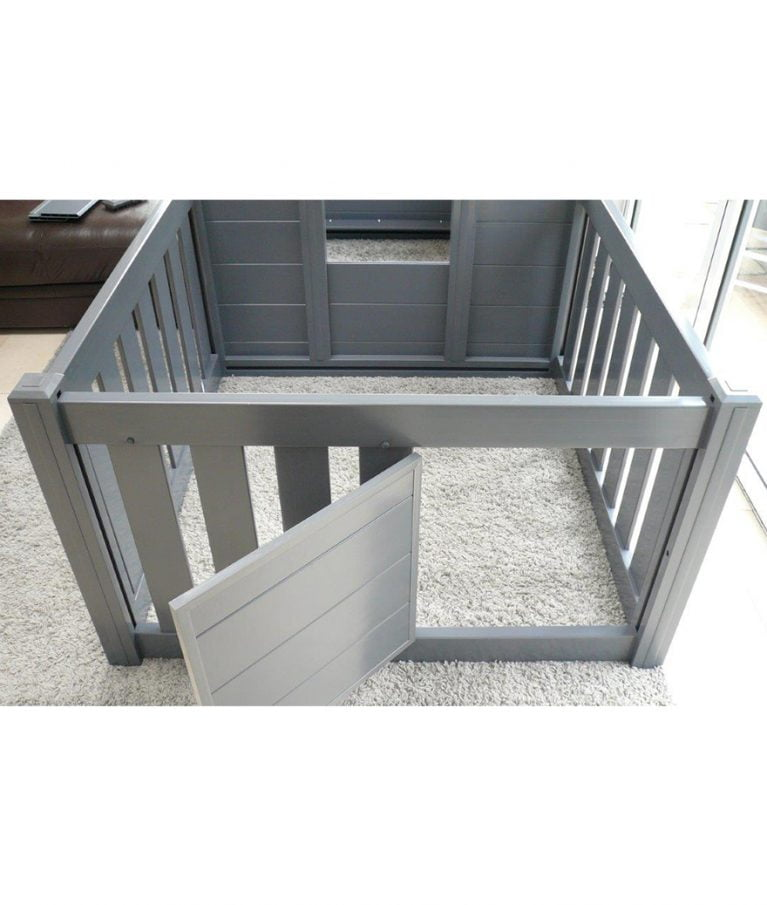 Puppy Playpen Grey Door